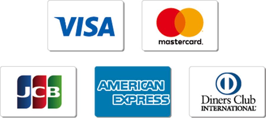 unon(ウノン)でご使用いただける、クレジットカード一覧です。VISA/MASTER/JCB/AMEX/Diners が、ご使用いただけます。